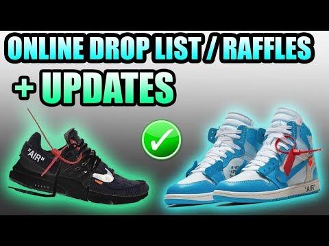 OFF WHITE UNC Jordan 1 STORE LIST + RAFFLES ! | Off White Presto Release Info | Butter Yeezy Update