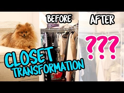 Walk-In Closet Organization + MAKEOVER | Closet Storage Solutions, Rolling Rack & Storage Shelves