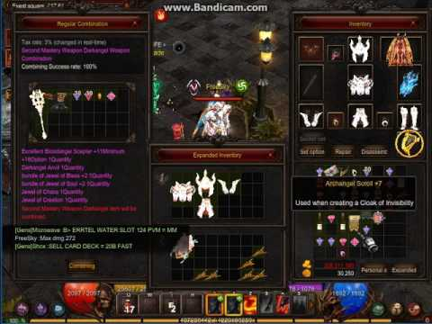 MU ONLINE || Darkangel Weapon Scepter Upgrade
