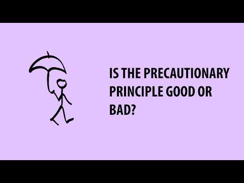 What is the Precautionary Principle, and is it Good or Bad?