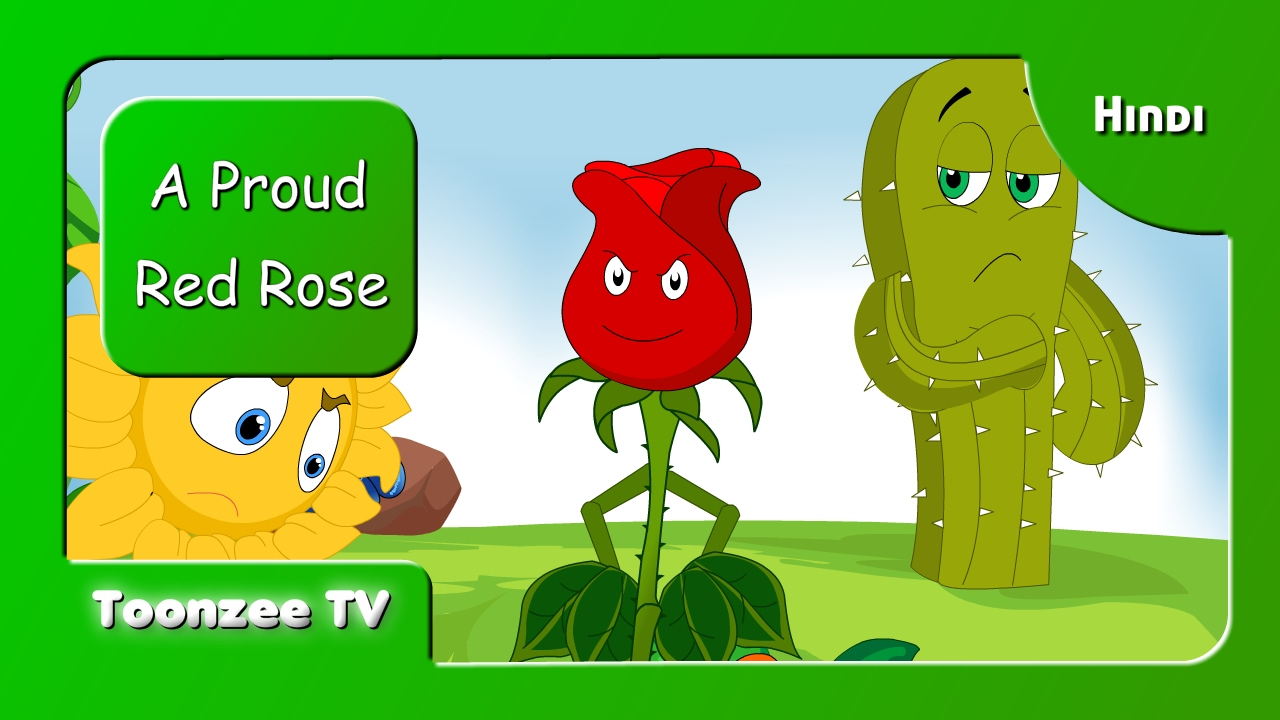 A Proud Red Rose - Hindi | Short Stories for Kids | Toonzee TV