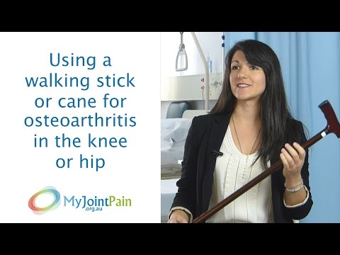 Using a walking stick or cane for osteoarthritis in the knee or hip