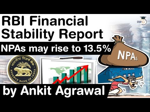 RBI Financial Stability Report - NPA may rise to 13.5% by September 2021 #UPSC #IAS