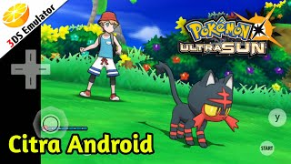 Pokemon Ultra Sun Citra 3DS Emulator(CPU JIT) On Android