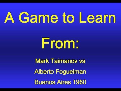 Taimanov vs  Foguelman - Buenos Aires 1960