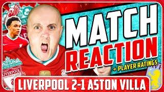 TRENT SCREAMER WINS IT! LIVERPOOL 2-1 ASTON VILLA Match Reaction