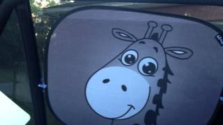 EZ-bugz Giraffe Design Premium Car Window Sun Shades(Check out my review at http://motherhoodcommunity.com/sun-shade-ez., 2014-12-16T02:45:43.000Z)