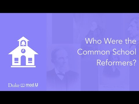 Who Were the Common School Reformers?