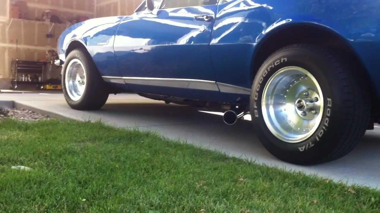 1967 Camaro 396 exhaust - YouTube