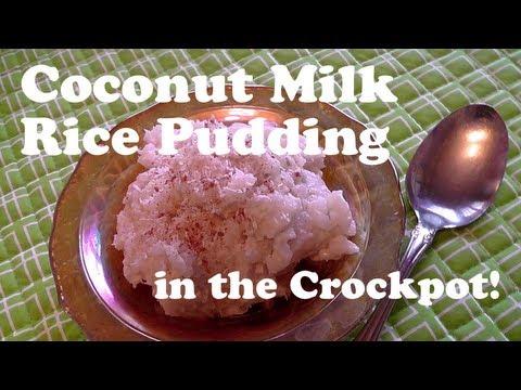 Crocktober Day 4: Coconut Milk Rice Pudding Recipe