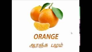 Learn Fruits Name English Tamil