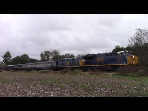 CSX P900-29 OCS Train flies South by Dunn, NC
