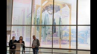María José Planells reflexiona sobre la dona treballadora al vitrall del MuVIM