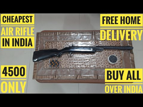 cheapest air rifle online in india-4500 rupees only-with pellets and sound corks-free home delivery.