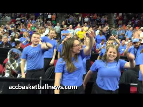 UNC band Dance Off against Providence band at NCAA Basketball Tournament