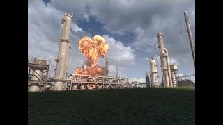 Animation of April 26, 2018, Explosion and Fire at the Husky Energy Refinery in Superior, Wisconsin