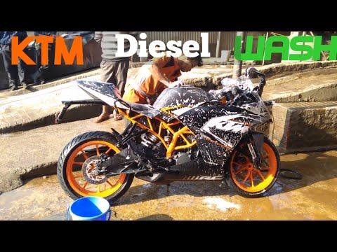 KTM RC 200 bike wash detailed Diesel wash in Shillong full wash covered.