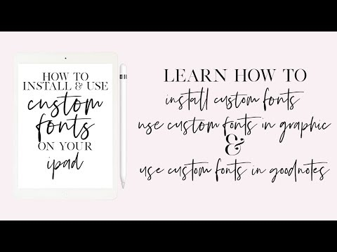 Install & Use Any Font on Your iPad - YouTube