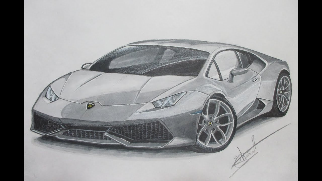 drawing lamborghini huracan by alex sh youtube. Black Bedroom Furniture Sets. Home Design Ideas