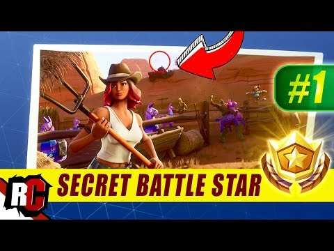 Secret Battle Star Location WEEK  Fortnite | Season  HUNTING PARTY Challenges)