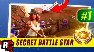 Secret Battle Star Location WEEK 1 Fortnite | Season 6 HUNTING PARTY Challenges)
