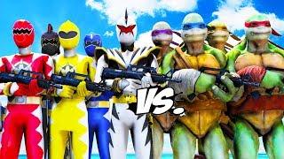 Teenage Mutant Ninja Turtles VS Power Rangers (Dino Thunder)