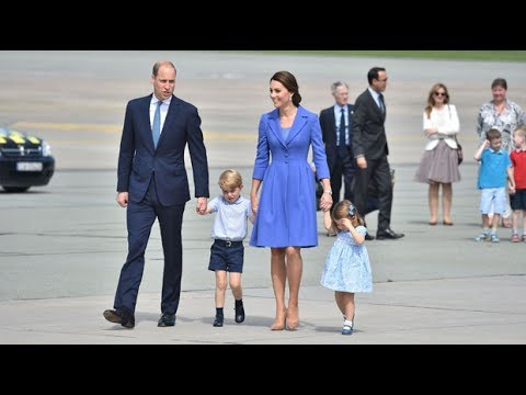 Duke & Duchess of Cambridge depart Poland for Germany