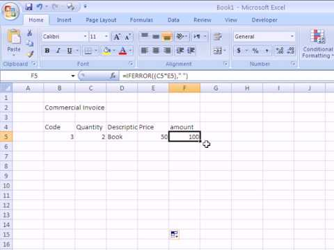 how to make an invoice in excel 2007 avi youtube