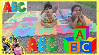 ABC PUZZLE MAT FOR KIDS | LEARN THE ALPHABET FOR KIDS BY SAM AND ABBY