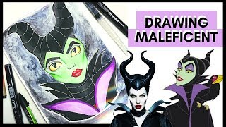 DRAWING MALEFICENT 💜