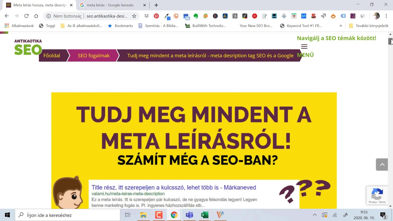 az internetes pénzkeresésről szóló webhely leírása)