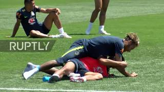 Russia: Neymar flings eggs, flour at bday boy Coutinho after Brazil training