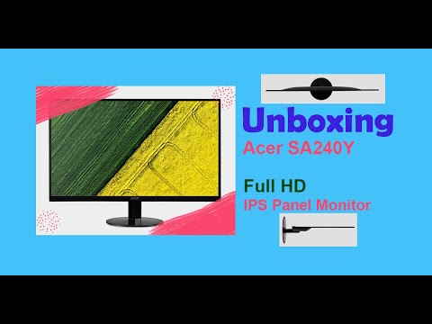 Unboxing and Review of Acer SA240Y full HD IPS panel monitor || ALLTricks || Hindi