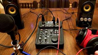 FULL DEMO Alto Professional ZMX52 | 5-Channel 2-Bus Mixer with 6 Inputs, 3-Band EQ