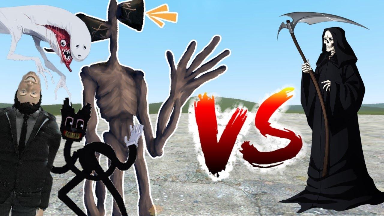Las Criaturas de Trevor Henderson vs La Muerte (Garry's Mod)