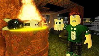 The child who mistreated his cats ROBLOX 😢 TRISTE MOVIE