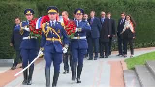 Возложение венка к мемориалу Г.А.Алиева и к Мемориалу павшим героям, Баку, 20 ноября 2017 года