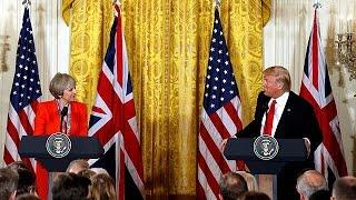Stati Uniti: Trump riceve la britannica May,