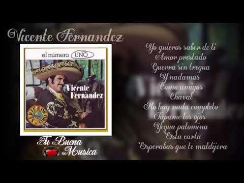 Yo quiero saber de ti Vicente Fernandez el numero uno Album completo