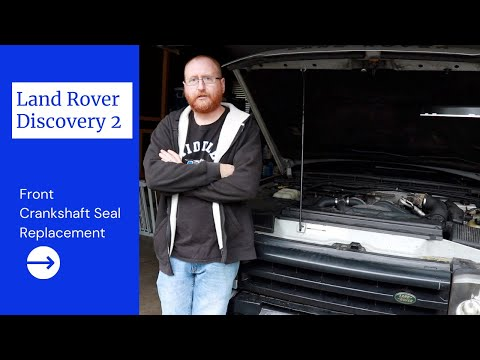 2003 Land Rover Discovery 2// Front Crankshaft Seal Replacement(DIY)