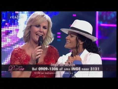 Inge de Bruin als Michael Jackson bij de Finale van Let's Dance #1