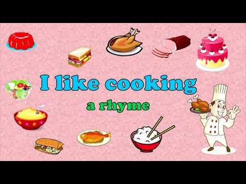 I Like Cooking.  English Rhyme For Kids. Я люблю готовить. Стих. Уроки английского