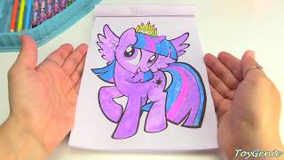 My Little Pony Twilight Sparkle Art Set with Water Color Paints and Crayons