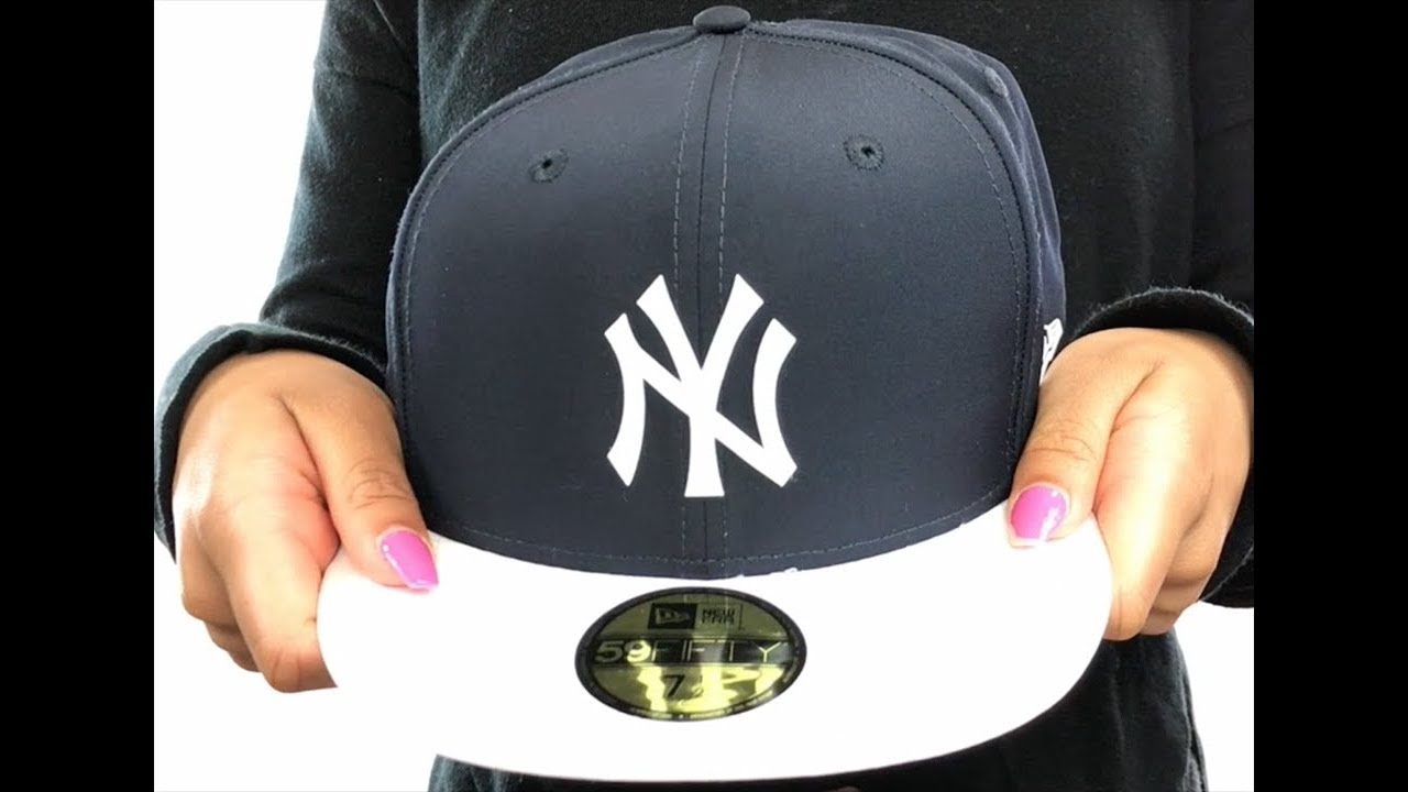 f1d4672fd2b8fb Yankees '2018 PROLIGHT-BP' Navy-White Fitted Hat by New Era - YouTube