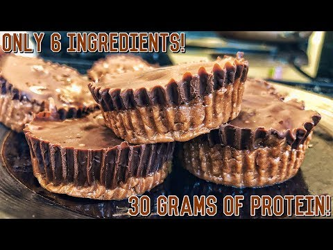 High Protein Peanut Butter Cups | Healthy Bodybuilding Recipe