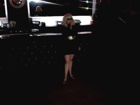 Kim Lambada singing Blondie's Denis at Gem Bar