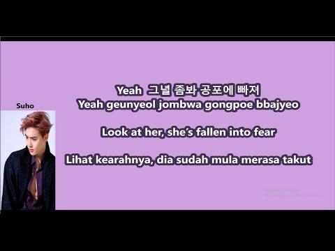 EXO - Wolf with Malay | Eng | Han | Rom lyrics