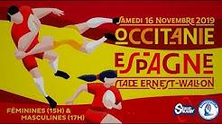 #SérieRugbyLive : Occitanie / Espagne – Match Amical Masculin – 16 Novembre 19