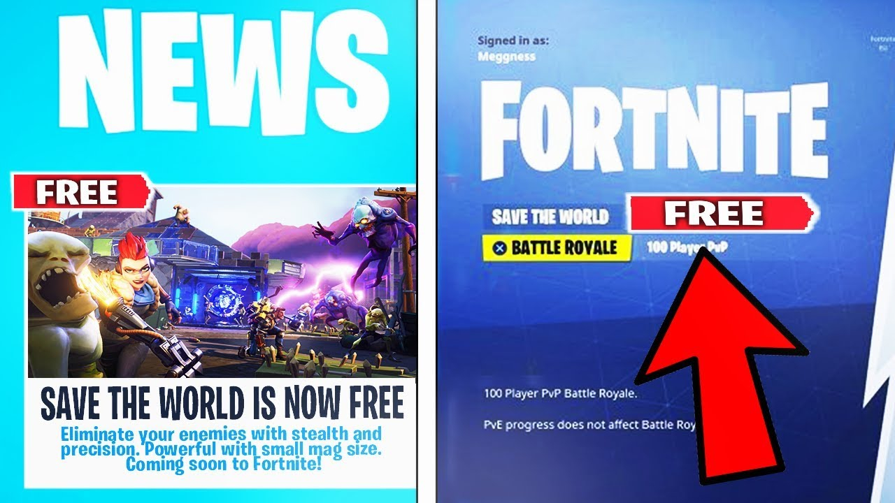 """FORTNITE """"SAVE THE WORLD FREE"""" RELEASE DATE CONFIRMED ..."""