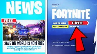 "FORTNITE ""SAVE THE WORLD FREE"" DATE DE SORTIE CONFIRMÉE! - Fortnite Bataille Royale"